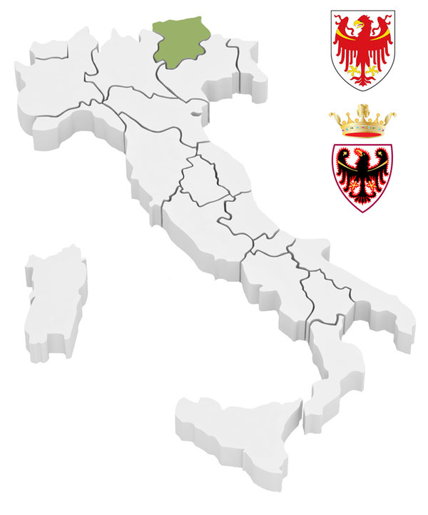 Regions Trentino and South Tyrol